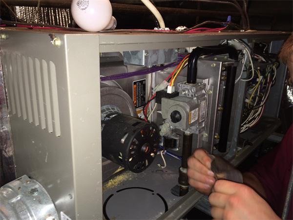 Bradley Mechanical Technician doing an installation