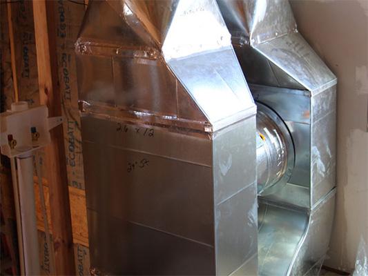 Bradley Mechanical duct fabrication