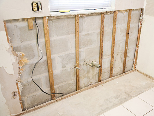 Plumbing renovation of a home