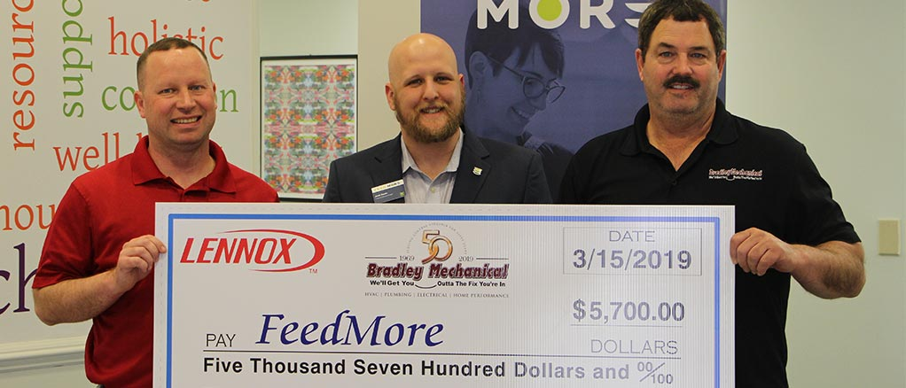 Bradley Mechanical Donates to Feedmore