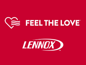 FEEL THE LOVE LENNOX LOGO