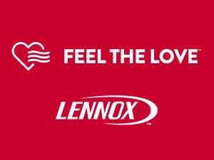 FEEL THE LOVE LENNOX LOGO