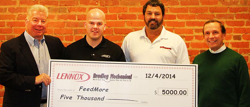 Feed More 2014 Donation - Bradley Mechanical