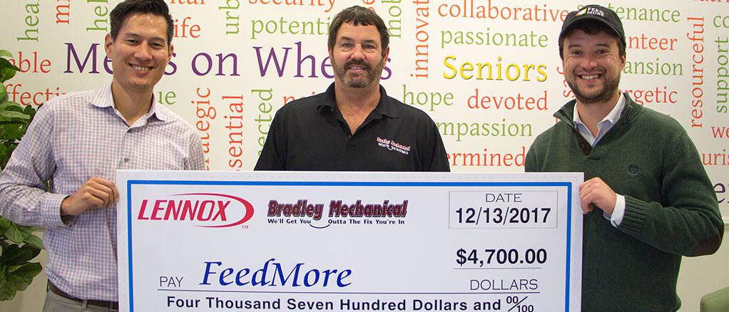 Feed More 2017 Donation - Bradley Mechanical