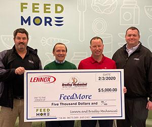 Feed More 2020 Donation - Bradley Mechanical