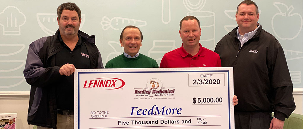 Feed More 2020 Donation - Bradley Mechanical