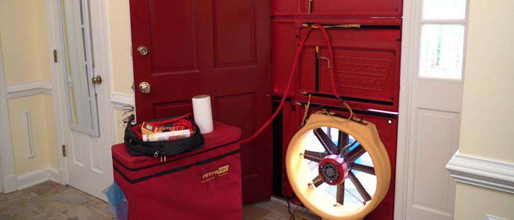 Infiltrometer Blower Door Testing